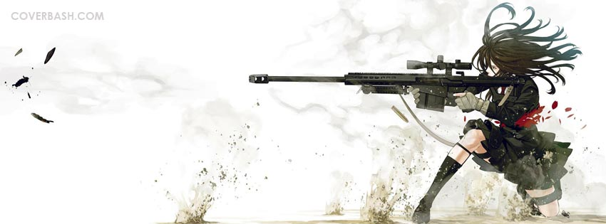 sniper girl facebook cover
