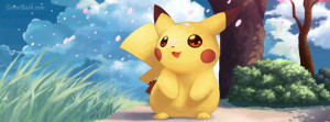 baby pikachu facebook cover