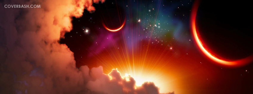 beautiful night sky facebook cover