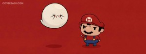 boo and super mario facebook cover