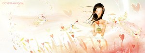 animated girl facebook cover