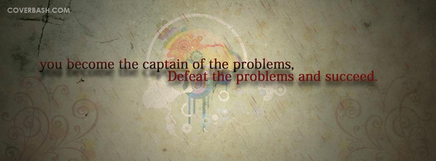 defeat the problems facebook cover