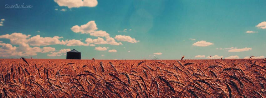 distant blue sky facebook cover