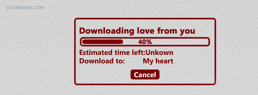 downloading love facebook cover