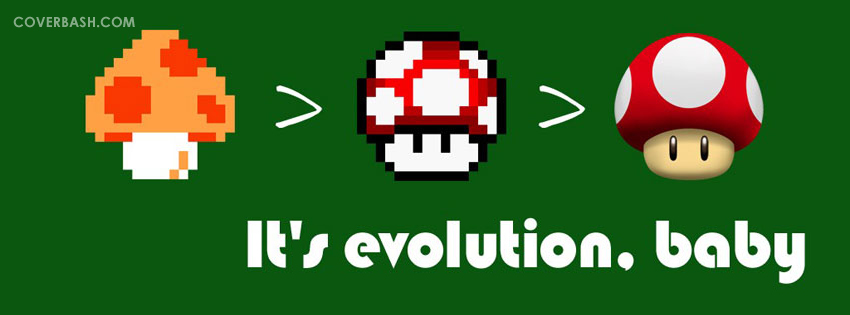 it's evolution, baby facebook cover
