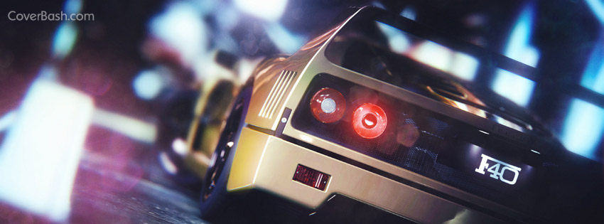 ferrari f40 facebook cover