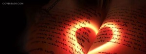 glowing love facebook cover