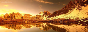 golden evening by mountain side facebook cover