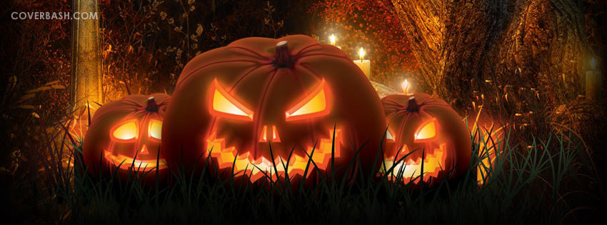 halloween pumpkins facebook cover