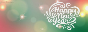 colorful happy new year facebook cover