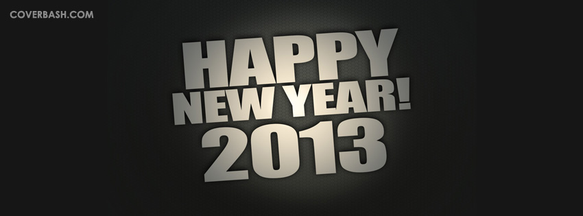 happy new year 2013 minimal style facebook cover