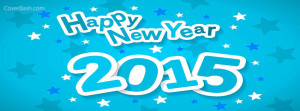 starry blue happy new year 2015 facebook cover