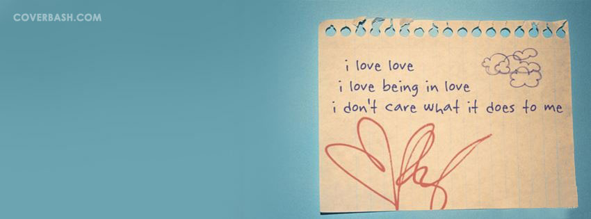 being in love facebook cover