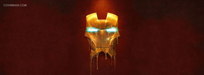 the mask of iron man facebook cover