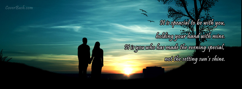 It is Special to be with You Facebook Cover - CoverBash.com