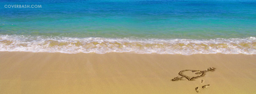 lovely beach facebook cover