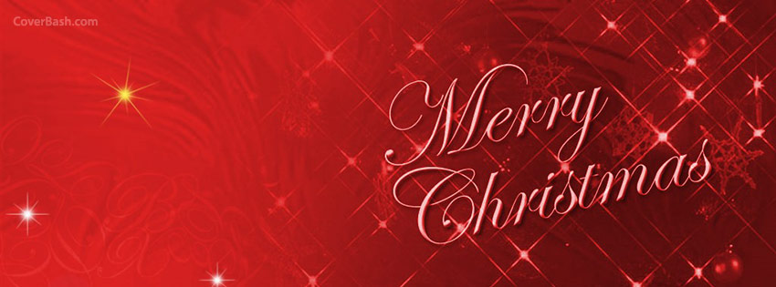 Merry Christmas Stars Facebook Cover - CoverBash.com