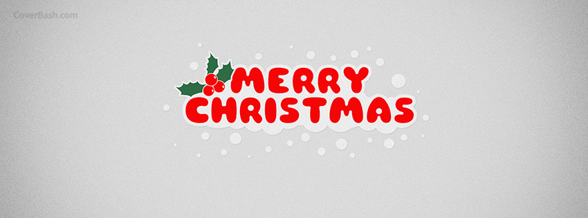 merry christmas minimal facebook cover
