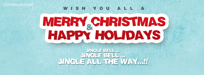 merry christmas and happy holidays facebook cover