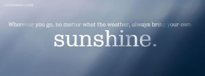 sunshine facebook cover