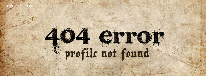 profile not found facebook cover