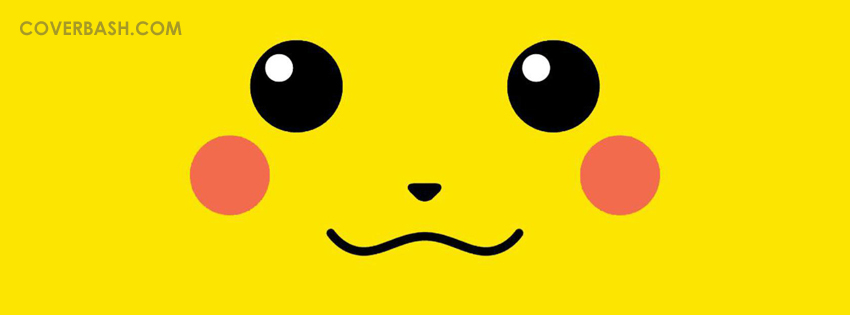 pikachu smile facebook cover