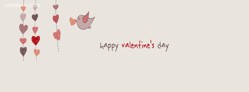 simply happy valentine's day facebook cover
