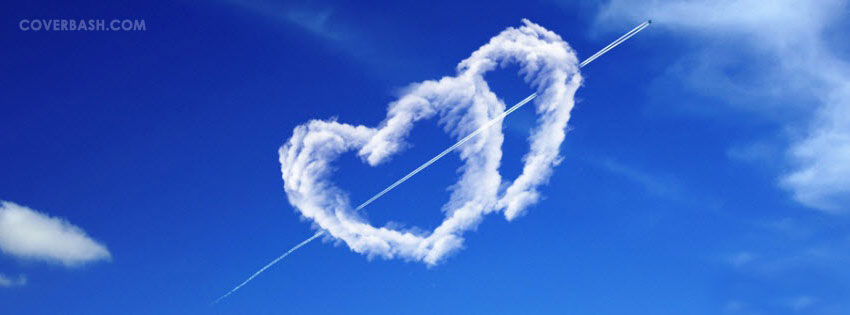 the love in sky facebook cover