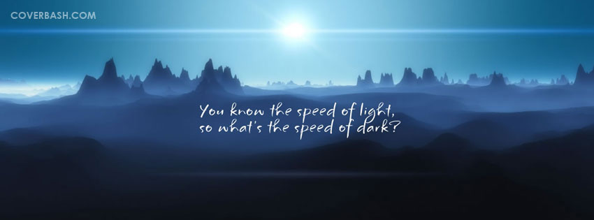speed of dark facebook cover