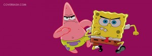 spongebob & patric in action facebook cover