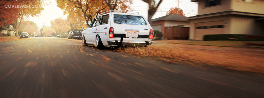 station wagon fall drive facebook cover