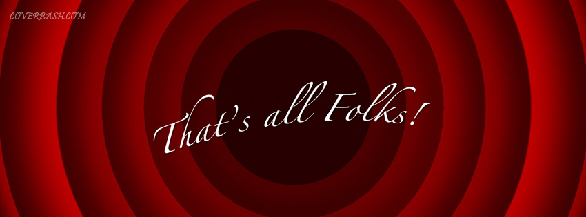 that's all folks facebook cover