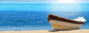 the boat at beach facebook cover
