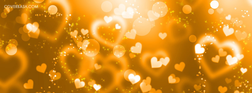valentine hearts facebook cover