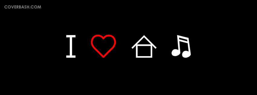 i love home & music facebook cover
